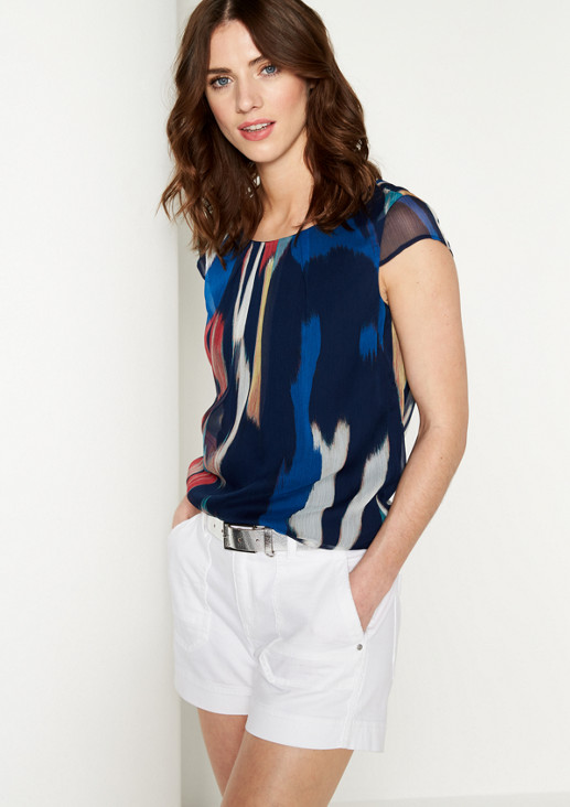 Delicate chiffon blouse with a colourful all-over print from comma