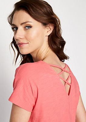 Jersey top with sophisticated details from comma