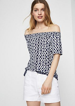 Off-the-shoulder blouse with short sleeves from comma