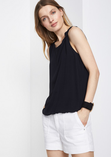 Delicate chiffon top with decorative knots from comma