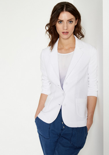 Casual blazer in a ribbed look from comma
