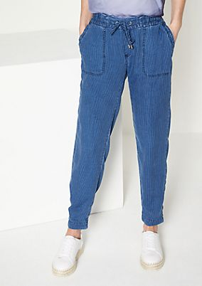 Jeans with pinstripes from comma