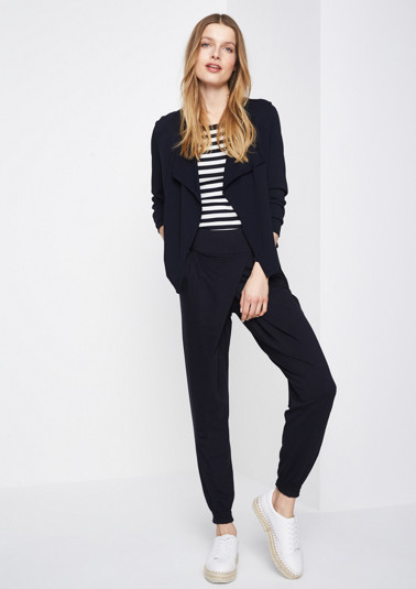Lightweight lounge trousers in a wrap-over look from comma