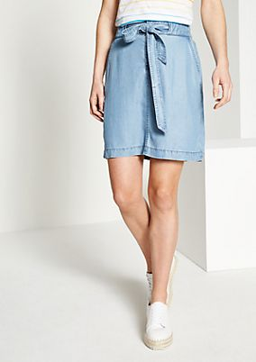 Short denim skirt in a vintage look from comma