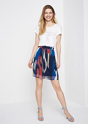 Delicate chiffon mini skirt with an all-over pattern from comma