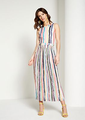 Evening gown with a colourful striped pattern from comma