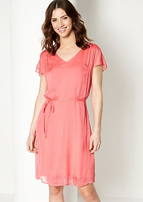 Delicate silk dress with short sleeves from comma