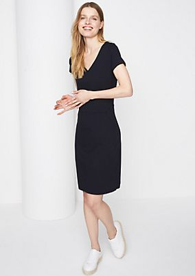 Jersey dress with short sleeves from comma