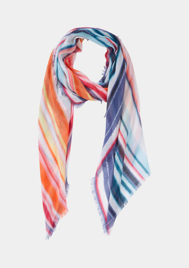 Lightweight scarf with a stripe pattern from comma