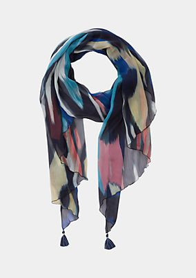 Delicate chiffon scarf with an all-over pattern from comma