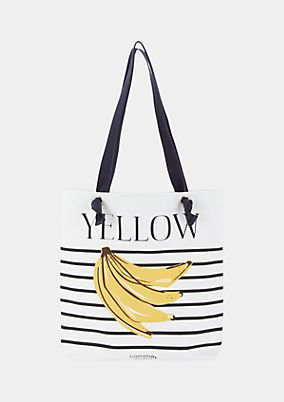 Canvas bag with a banana print from comma