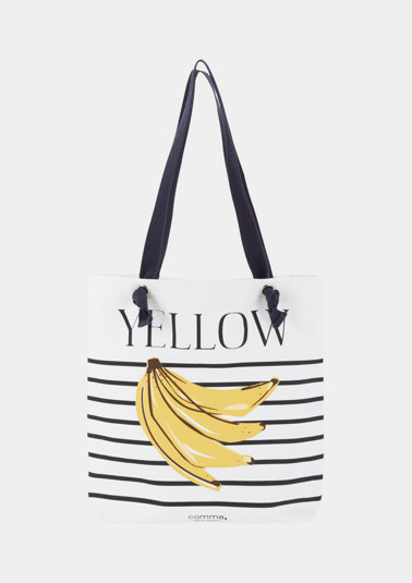 Tasche aus Segeltuch mit Bananen-Print