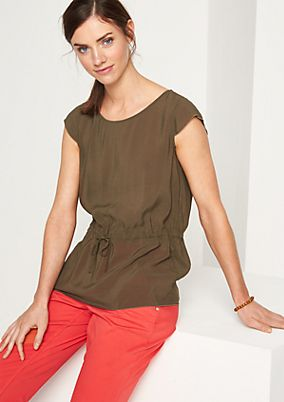 Blouse top with tie from comma