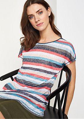 Strickshirt mit farbenfrohem Alloverprint