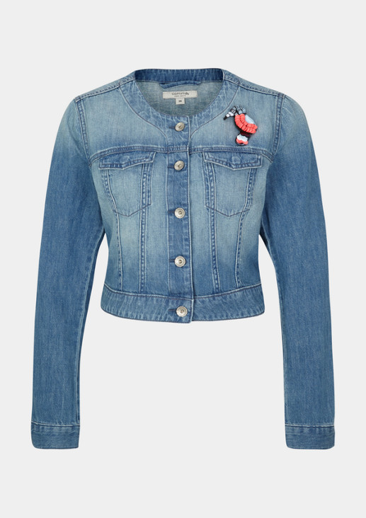 Jeansjacke in Used-Waschung