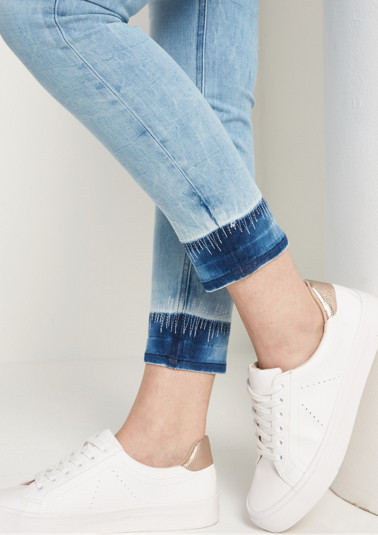 Light stretch jeans with a vintage hem from comma