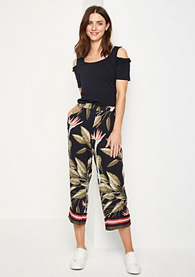 Culottes with a floral print from comma