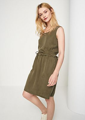 Twill dress with a tie from comma
