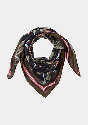 Leichter Schal mit farbenprächtigem Allovermuster