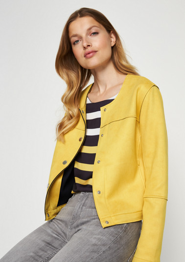 Extravagant cropped jacket in faux suede from comma