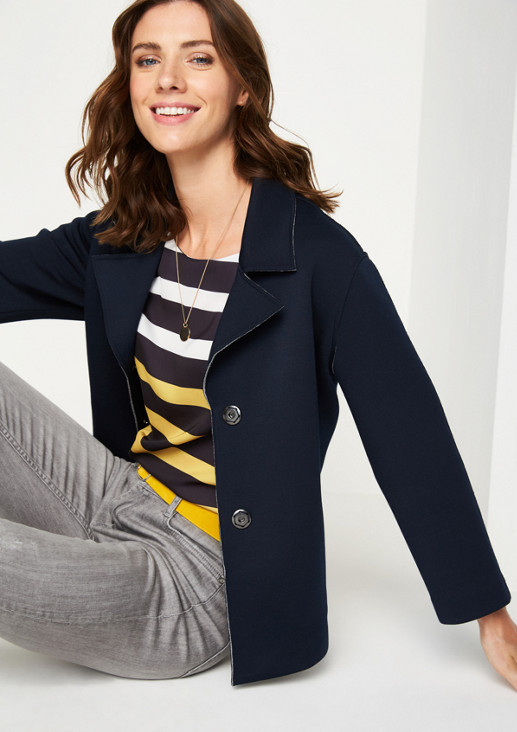 Jersey cardigan with 3/4-length sleeves from comma