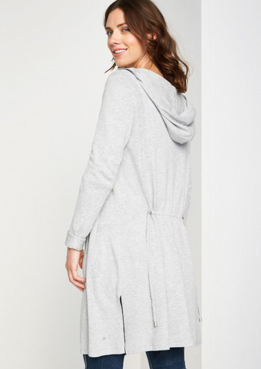 Long cardigan with a hoodie from comma