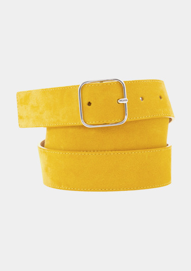 Wide genuine leather belt from comma
