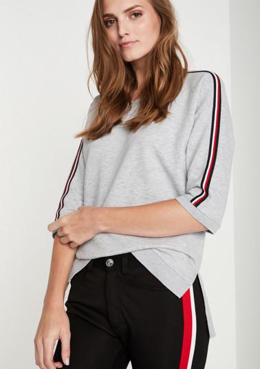 Kurzarm-Sweater mit dekorativen Details