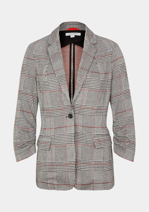 Weicher Businessblazer mit Glencheck-Muster