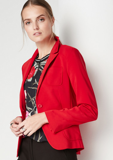 Sporty business blazer with patch pockets from comma