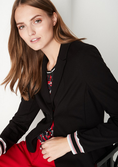 Sporty jersey blazer with decorative details from comma