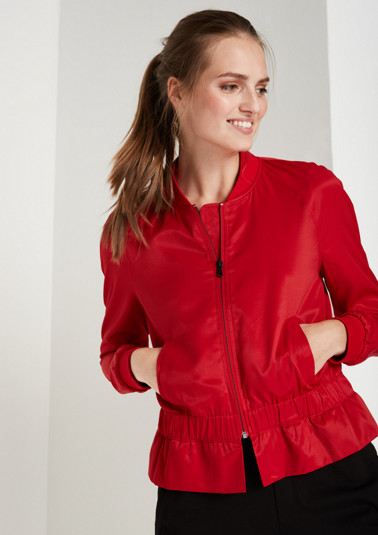 Lightweight bomber jacket with a stand-up collar from comma