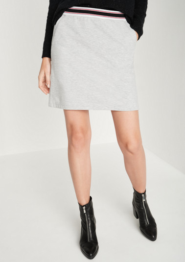 Short jersey skirt with sporty details from comma