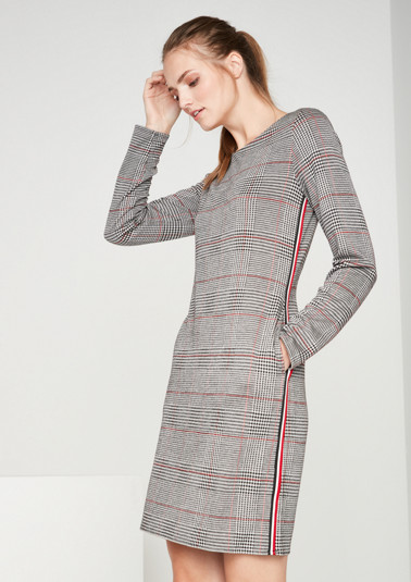 Casualkleid mit Glencheck-Muster