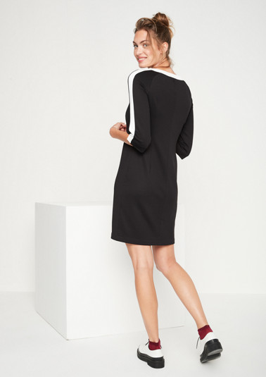 Lightweight jersey dress with 3/4-length sleeves from comma