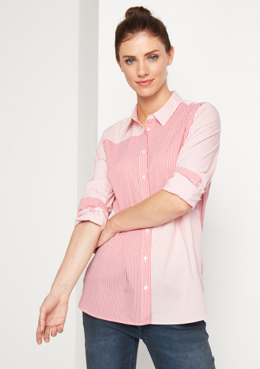 Business blouse with extravagant mixed stripes from comma
