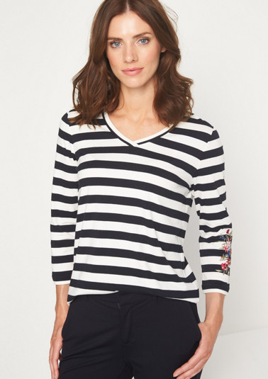 3/4-sleeve jersey top from comma