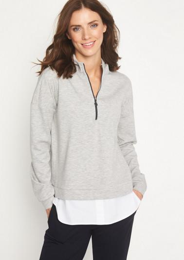 Sweaterjacke mit Kapuze