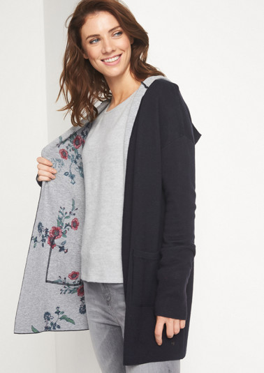Hooded cardigan from comma