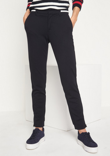 Casual, elegant trousers with a two-tone waistband from comma