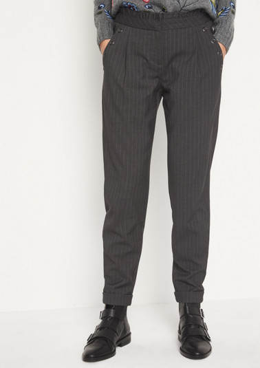 Elegant pinstripe business trousers from comma