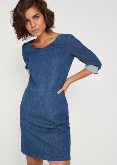 Sporty casual dress with 3/4-length sleeves from comma