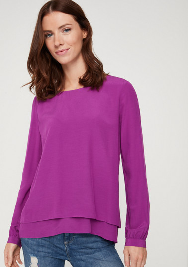 Crêpe blouse in a layered look from comma
