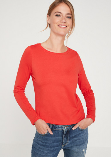 Simple basic long sleeve top from comma