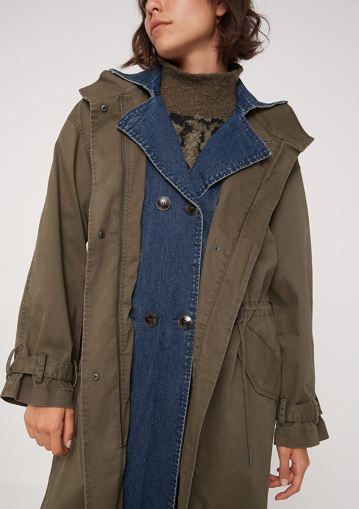 Classic parka in a layered look from comma