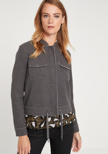 Jersey jacket with breast pockets from comma