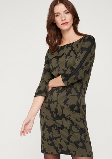 3/4-Arm Kleid mit Camouflagemuster