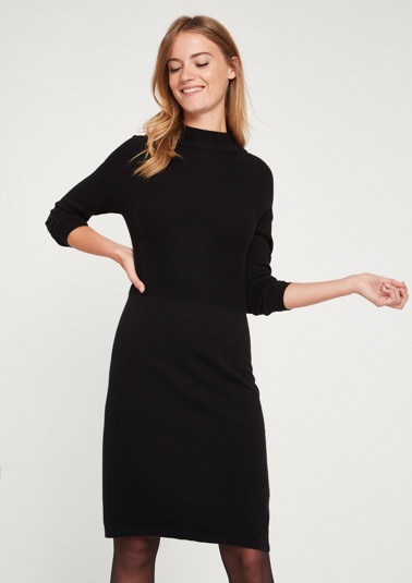 Fine knit dress with decorative details from comma