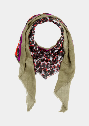 Triangular scarf in a mix of patterns from comma