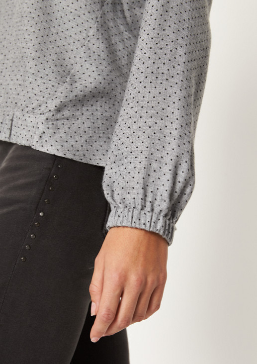 Flanellbluse mit feinem Webmuster